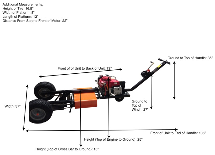 Airtug Model 10-H Dimensions