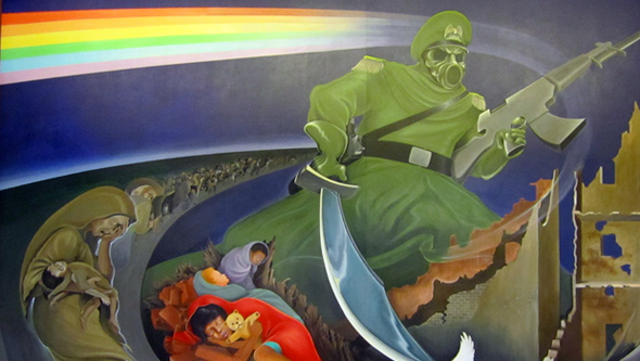 Denver airport conspiracy what 39 s under the denver airport for Denver mural conspiracy