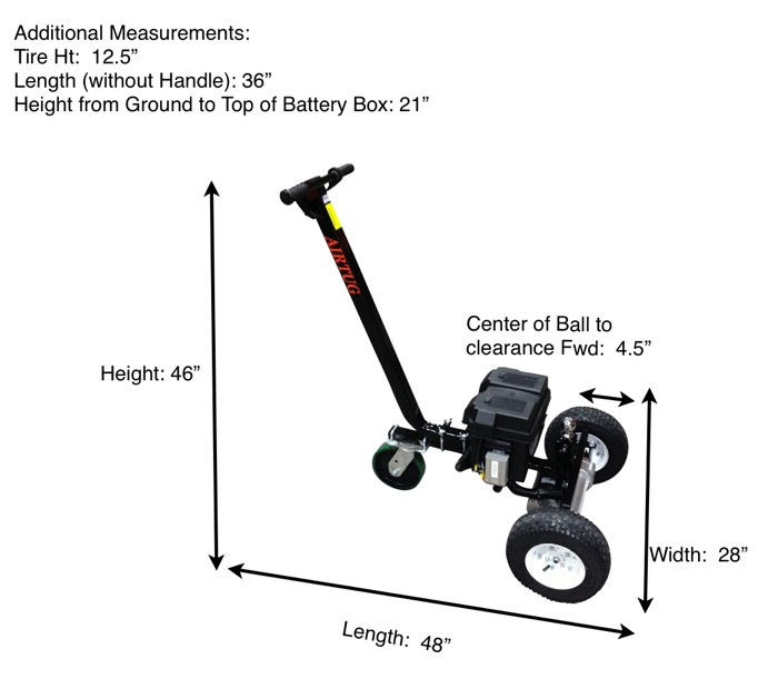 Electric Mini Aircraft Tug Dimensions