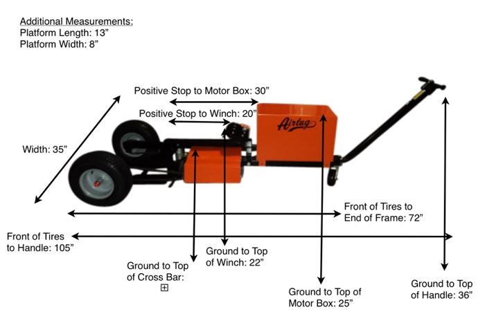 EL3-S Air Tug Product Dimensions