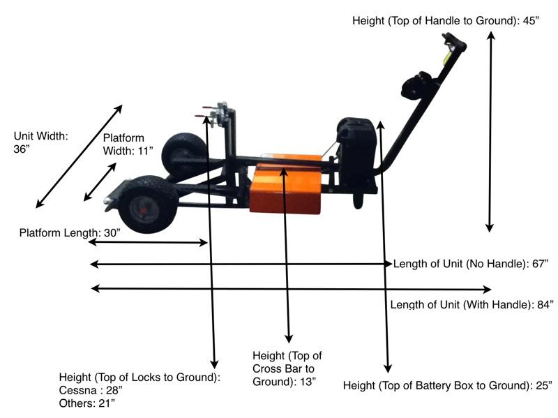 NEF Aircraft Tug Dimensions