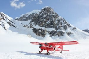 Small red airplane
