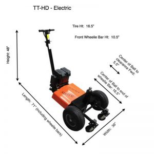 TT-HD Electric Tug Dimensions